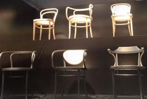 chaises THONET ;SALON INTERNATIONAL DU MEUBLE DER MILAN 2015