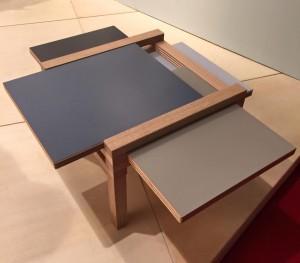 TABLE EN BOIS MODULABLE - SCULPTURESJEUX ; SALON DU MEUBLE DE MILAN 2015