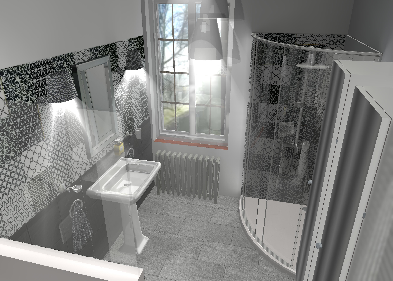 Salle de bain style art déco à st  just en chaussée   lajoie décors