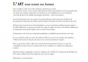 Article sur l'art
