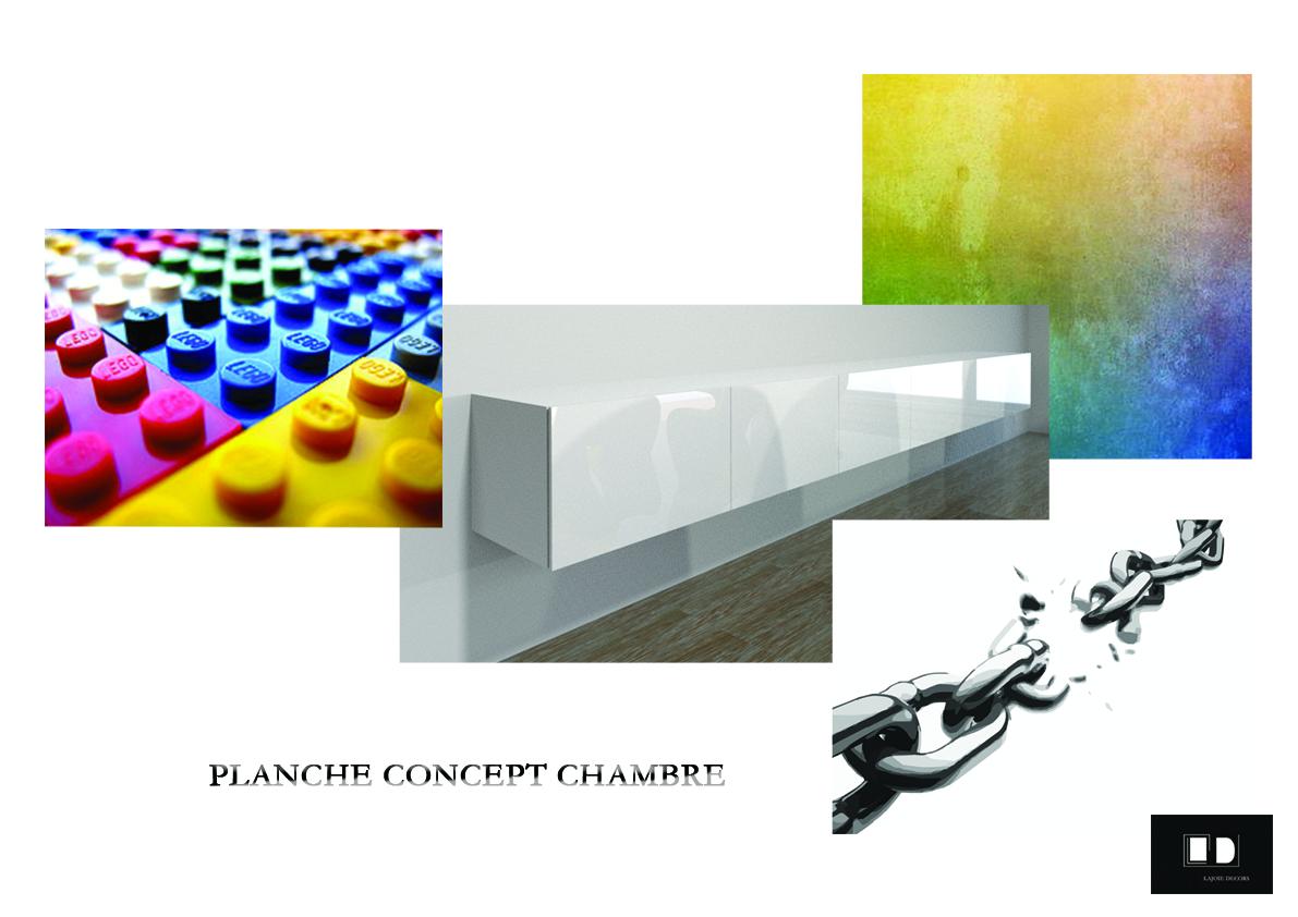 Planche concept chambre d'enfant
